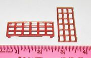 New Lionel Parts Red Window For 115 Passenger Station - 2 Pieces