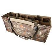 12 Slot 3d Lifelike Duck Decoy Bag With Padded And Adjustable Shoulder Strap