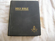Vintage Masonic Masonand039s Holy Bible Red Letter Edition Cyclopedic Indexed 1951