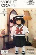 Vogue Doll With Outfit And Full Color Transfer Pattern 8647 Size 18 Uncut