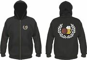 Laurel Wreath Football Beer Hooded Jacket With Stick And Print
