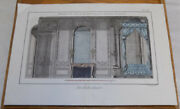 """1762 Antique Color Print///chimney, Table, Bed, In """"state Bedroom"""", Royal Palace"""