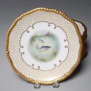 Antique Group 12 Copeland Hand Painted Fish Plates For Davis Collamore And Co.