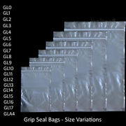 Grip Seal Bags Self Resealable Clear Polythene Poly Plastic Packing [all Sizes]