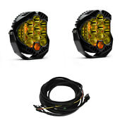 Baja Designs Pair Lp9 Amber Led Driving/combo Lights And Harness Kit