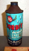 Vintage Whiz Zorbit 16 Oz Cone Top Tin Can, Great Colors And Graphics, Some Dents