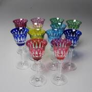 Group 12 Saint-louis Colored Glass Tommy Sherry Glasses