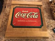 Vintage Coca Cola Box Wooden Cabinet With Shelves, Painted Wood Or Cabinet Crate