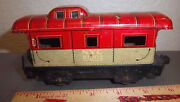 Model Train Caboose Metal Car, Marx, Nyc 20102 On Side, Great Colors, Fun Toy