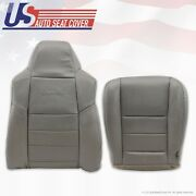 2002 - 2007 Ford F-250 Diesel 4x4 Driver Bottom And Back Leather Seat Covers Gray