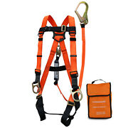 Three D-ring Full Body Fall Protection Safety Harness Harness Combo -spkit02-or