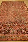 7and039 X 4and039 Paisley Farahan Handmade Woven Genuine Antique Rug Ca.1850 -mint