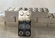 Lego 1 Oz .999 Silver Hand Poured Art Bar Building Blocks Usable Great Gift New