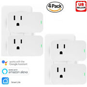 4x Remote Control Home Wifi Smart Power Socket Wireless Timer Switch Outlet Plug