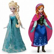 F/s Anna And The Queen Of Snow Elsa Ana Classic Doll 2 Body Set From Japan