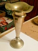 Silver Plate Trumpet Vase 7 Inches Tall  .lu69