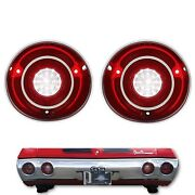 71 Chevy Chevelle Ss And Malibu Led Lh And Rh Back Up Reverse Light Lamp Lens Pair