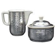 Wmf Art Deco Milk And Shugar Hammered Pattern For Thermisol Pot´s Germany