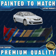 New Painted To Match Front Bumper Fascia Direct Fit For 2012-2014 Camry L E Xle