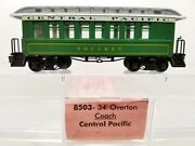 N Roundhouse 8503 34and039 Overton Central Pacific Passenger Coach Lnib
