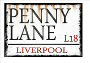 Penny Lane Beatles Reproduction Vintage Street Sign Liverpool Antique Style Sign