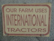 Our Farm Uses Ih International Harvester Tractors Sticker