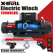 X-bull Electric Winch 12v 13000lbs Synthetic Rope Jeep Towing Truck Off Road 4wd