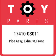 17410-0s011 Toyota Pipe Assy Exhaust Front 174100s011 New Genuine Oem Part