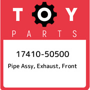 17410-50500 Toyota Pipe Assy Exhaust Front 1741050500 New Genuine Oem Part