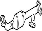 17410-31380 Toyota Pipe Assy Exhaust Front 1741031380 New Genuine Oem Part