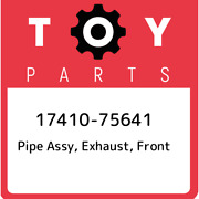 17410-75641 Toyota Pipe Assy Exhaust Front 1741075641 New Genuine Oem Part