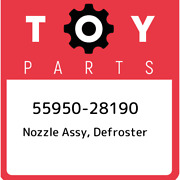 55950-28190 Toyota Nozzle Assy, Defroster 5595028190, New Genuine Oem Part