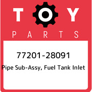77201-28091 Toyota Pipe Sub-assy, Fuel Tank Inlet 7720128091, New Genuine Oem Pa