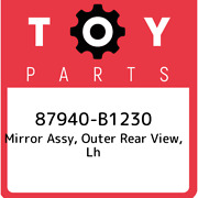 87940-b1230 Toyota Mirror Assy, Outer Rear View, Lh 87940b1230, New Genuine Oem