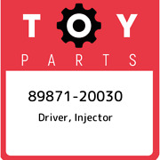89871-20030 Toyota Driver, Injector 8987120030, New Genuine Oem Part