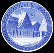 Royal Copenhagen Christmas Plate 1921 Town Square Abenraa 1. Quality