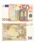 European Union 50.00 Euros Real Currency For Your Travel
