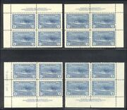 Canada 262 Mint Nh M/s Plate Blocks - 1942 1.00 Destroyer