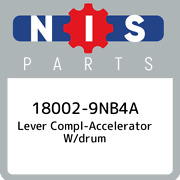 18002-9nb4a Nissan Lever Compl-accelerator W/drum 180029nb4a New Genuine Oem Pa