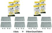 8 Baits And 8 Nemesis Termite Above Ground Monitor Bait Stations Pest Control