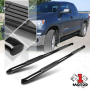 Black 3 Round Side Step Nerf Bar Running Board For 07-20 Tundra Crew/double Cab