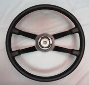 69-73 Porsche 911 400mm Thick Grip Leather Steering Wheel - Beautifully Restored