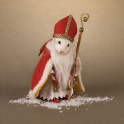 R John Wright Father Christmas Mice St Nicholas Mouse New 230 - Sold Out