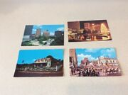 4 Antique Postcards Fort Worth And Denison Texas Eisenhower Rodeo Show Unused