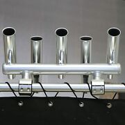 Dolphin T Top 5 Rod Holder |fishing Console Boat T Top Rocket Launcher| Anodized
