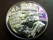 1977 Rex Galileo-look To The Stars Fine Silver High Relief Mardi Gras Doubloon