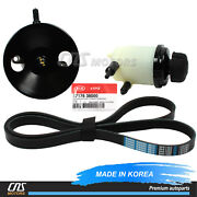 Power Steering Pump And Belt And Genuine Reservoir Tank For 00-06 Sonata Optima 2.4l