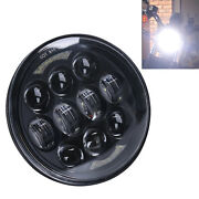 Black 5-3/4'' 5.75'' 80w Cree Led Motorcycle Headlight Halo High Low Beam 4800lm
