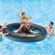 Inflatabull-swimming-pool-lake-fun-float-inflatable-water-ride-on-bull-riding