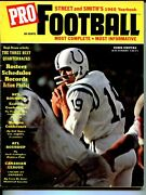 Street And Smith's Pro Football Yearbook-1965-johnny Unitas-nfl-afl-cfl-fn